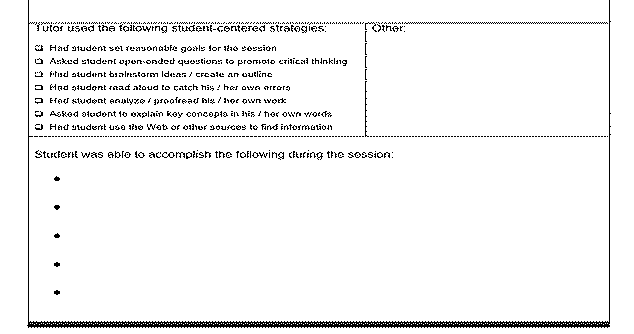 CWC Faculty resources The tutor is expected to discuss the student ...